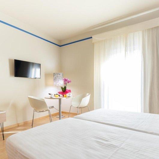 Chambre twin Hôtel Ciutat Barcelona